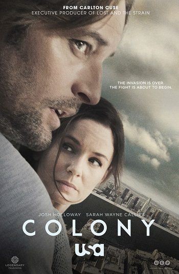 Poster for Colony, featuring Josh Holloway and Sarah Wayne Callies
