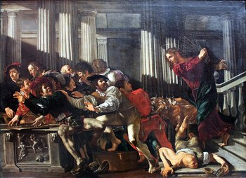 https://static.tvtropes.org/pmwiki/pub/images/1024px_1610_cecco_del_caravaggio_christ_expulses_money_changers_anagoria.JPG