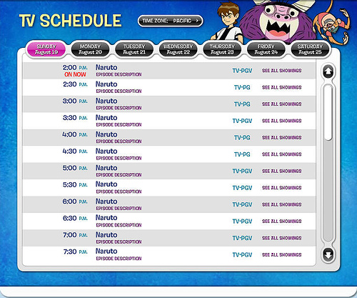 Image Gallery Nicktoons Schedule
