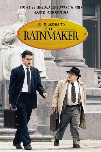 an analysis of john grishams film the rainmaker directed by francis ford copolla A 1995 novel by john grisham, adapted two years later into a film directed by francis ford coppola and starring matt damon, danny devito, claire danes and jon voight rudy baylor is an idealistic, up-and-coming law student in memphis set to graduate and take the bar exam in a few months.