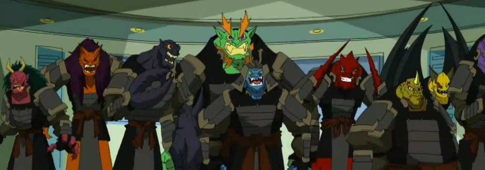 Jackie Chan Adventures Oni And Shadowkhan Characters