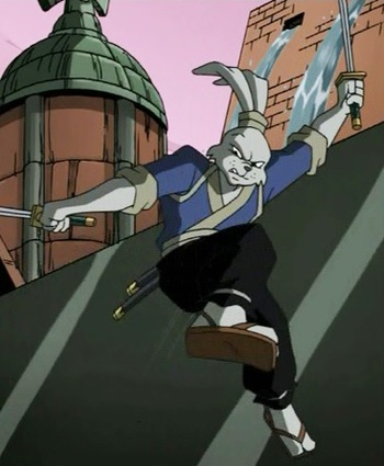 https://static.tvtropes.org/pmwiki/pub/images/4729319_teenage_mutant_ninja_turtles_season_2_24_the_big_brawl_part_2_leonardo_vs_miyamoto_usagi_yojimbo_tmnt_2003.jpg