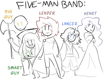 Five Man Band TV Tropes