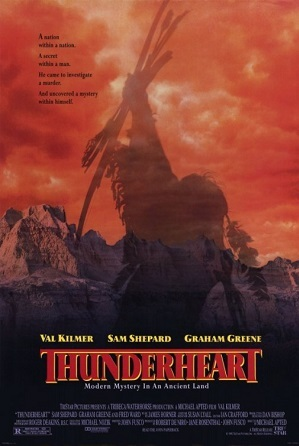 a film review on the film thunderheart Rent thunderheart (1992) starring val kilmer and sam shepard on dvd and blu -ray get unlimited dvd movies & tv shows delivered to your door with no late  fees, ever fast, free delivery  116 reviews this is a movie i first saw with my.
