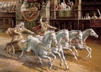 Were what chariot races expected to wear images