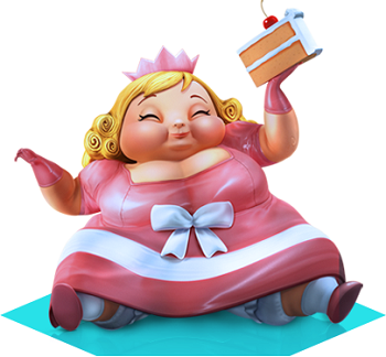 Image result for cartoon image of fat girl