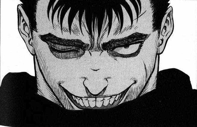 Intimidating face meme smile