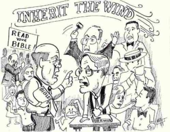 an analysis of the teachings of the bible and evolution in inherit the wind a play by jerome lawrenc A short jerome lawrence & robert e lee biography book of genesis in the bible adapted the scopes trial into a play the work, inherit the wind.