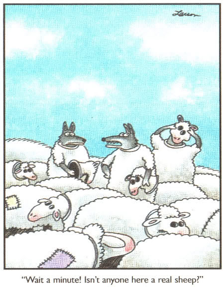 Far Side Cartoon What we say