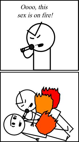 Comics stick sex