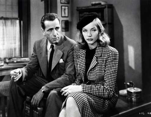 Bogart as Marlowe and Bacall as Vivian