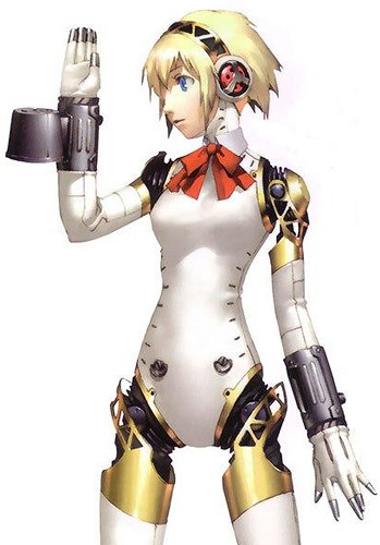 Cosplay android aigis getting pussy fingered - 5 1