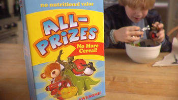 Cereal ads with prizes for kids