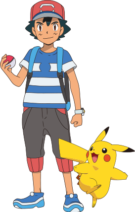 Characters /                   Pokémon Anime - Ash and Pikachu