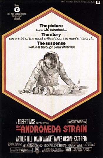 an analysis of andromeda strain a movie Stone also formed a committee that submitted a life analysis protocol one major theme of the andromeda strain is how intelligence of man can lead to his downfall.