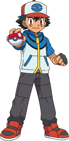 how to draw pokemon trainer ash