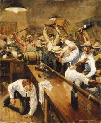 Image result for western bar room brawl