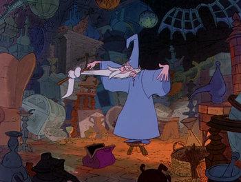 Merlin S Room Sword In The Stone Disney