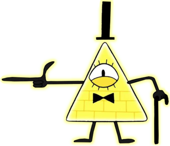 https://static.tvtropes.org/pmwiki/pub/images/bill_cipher_pointing.png