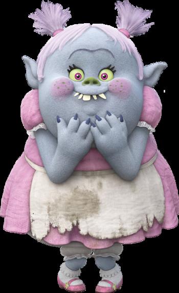 Cartoon girl troll