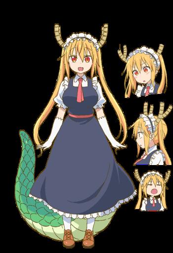 Character Design Tropes : Miss kobayashi s dragon maid characters tv tropes
