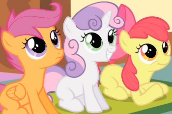 Friendship Is Magic The Cutie Mark Crusaders Characters Tv Tropes Its visor goes up and down! cutie mark crusaders