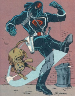 http://static.tvtropes.org/pmwiki/pub/images/cobra-commander-kicks-a-puppy.jpg