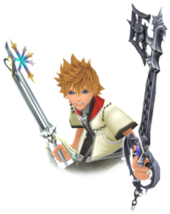 kingdom hearts roxas axel and xion characters tv tropes