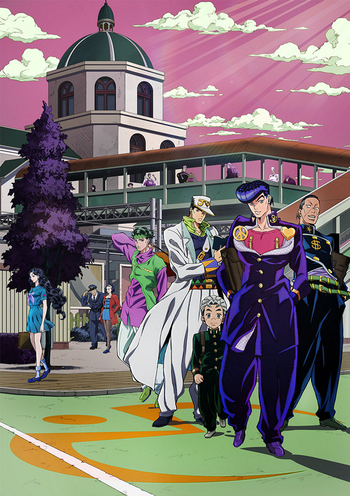 Jojo S Bizarre Adventure Diamond Is Unbreakable Manga Tv Tropes Koichi hirose · jotaro kujo · jean pierre polnareff · scolippi · others. jojo s bizarre adventure diamond is
