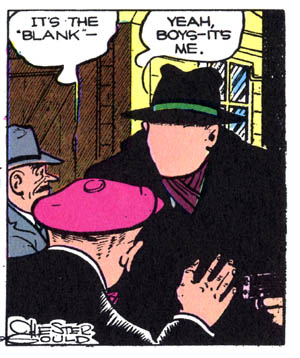 The blank dick tracy