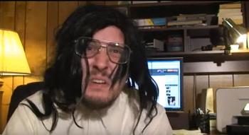the nostalgia critic cowboy bebop at his computer tv