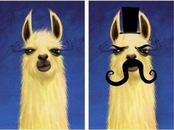 https://static.tvtropes.org/pmwiki/pub/images/evil_twin_llama.jpg