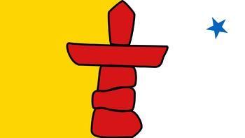 https://static.tvtropes.org/pmwiki/pub/images/flag_of_nunavut.png