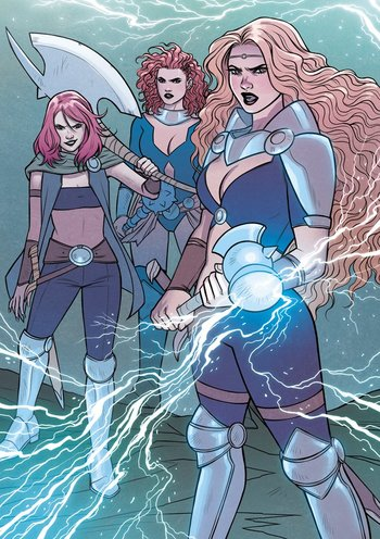 https://static.tvtropes.org/pmwiki/pub/images/goddesses_of_thunder_earth_14412_from_mighty_thor_at_the_gates_of_valhalla_vol_1_1_001.jpg