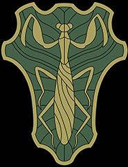 https://static.tvtropes.org/pmwiki/pub/images/green_praying_mantises_insignia.png