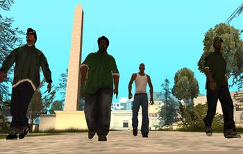 Grand Theft Auto San Andreas Grove Street Families