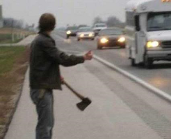 Hitchhikers By Side Of Road >> Hostile Hitchhiker Tv Tropes