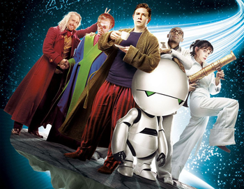 https://static.tvtropes.org/pmwiki/pub/images/hitchhikers_guide_cast.png