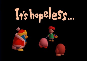 Of it s a wonderful failure kirby 64 s boss rush game over screen