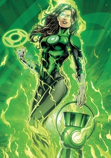 What sexy female superhero green lantern nice