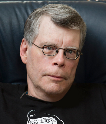 How many books did Stephen King write while under the influence?