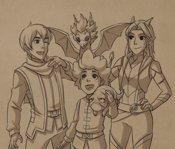 The Dragon Prince Main Characters Characters Tv Tropes