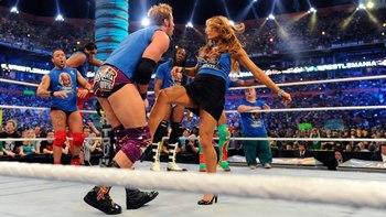 Pro Wrestling / Groin Attack - TV Tropes
