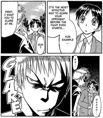 Intimidating anime facepalm