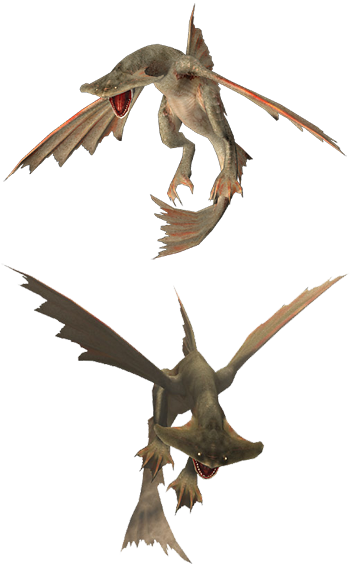 Monster hunter characters tv tropes for Piscine wyvern