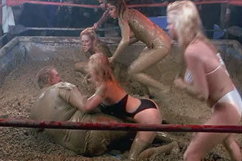wrestling mud Movie stripes