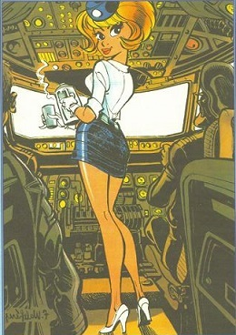 Erotic comics stewardess