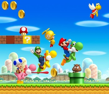 New super mario bros wii video game tv tropes - Amis de mario ...