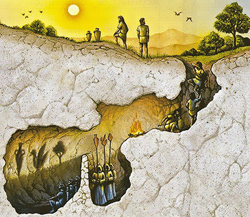 an analysis of allegory of the cave by plato 'the analogy of the cave tells us nothing about reality' discuss (10) initially, i would say that plato's allegory of the cave doesn't tell us anything ab.