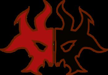https://static.tvtropes.org/pmwiki/pub/images/rakdos_logo.png